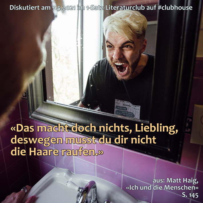 1-Satz-Literaturclub Lakritza Judith Niederberger Matt Haig Ich und die Menschen