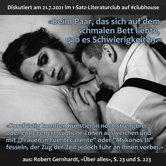 1-Satz-Literaturclub 1SLC Lakritza Judith Niederberger Robert Gernhardt Über alles