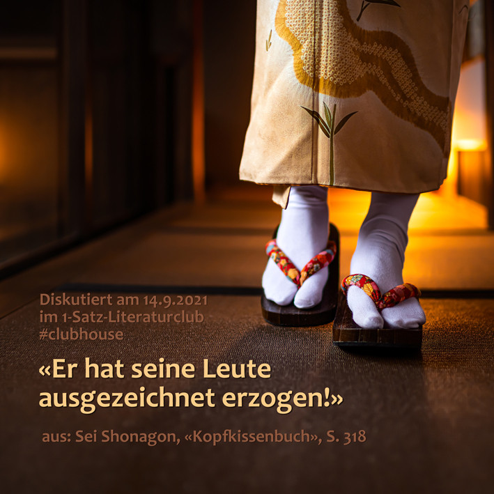 1-Satz-Literaturclub 1SLC Lakritza Judith Niederberger Sei Shonagon Kopfkissenbuch