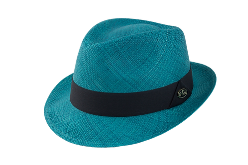colored hats, summer hats, tropical hats, panama hats, toquilla hats, fedora hats, dress hats, turqoise hat