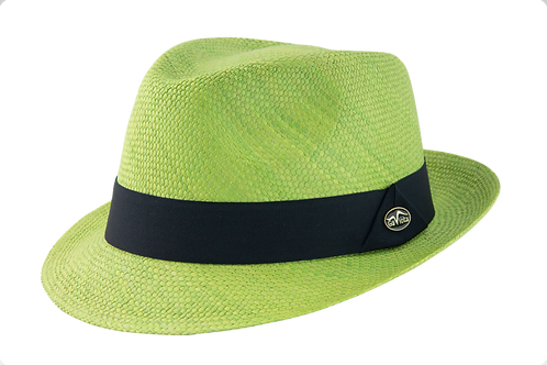 key lime hat, colored hats, summer hats, tropical hats, panama hats, toquilla hats, fedora hats, dress hats, green hats