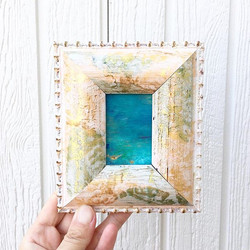 ▪️ new window  新しい窓  手のひらサイズの海の絵  web sh