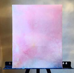 ▪️ pink cloud/ピンクの雲 409×318mm f6/油彩額  どん