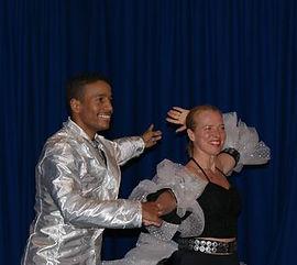 Stine med hendes danse partner
