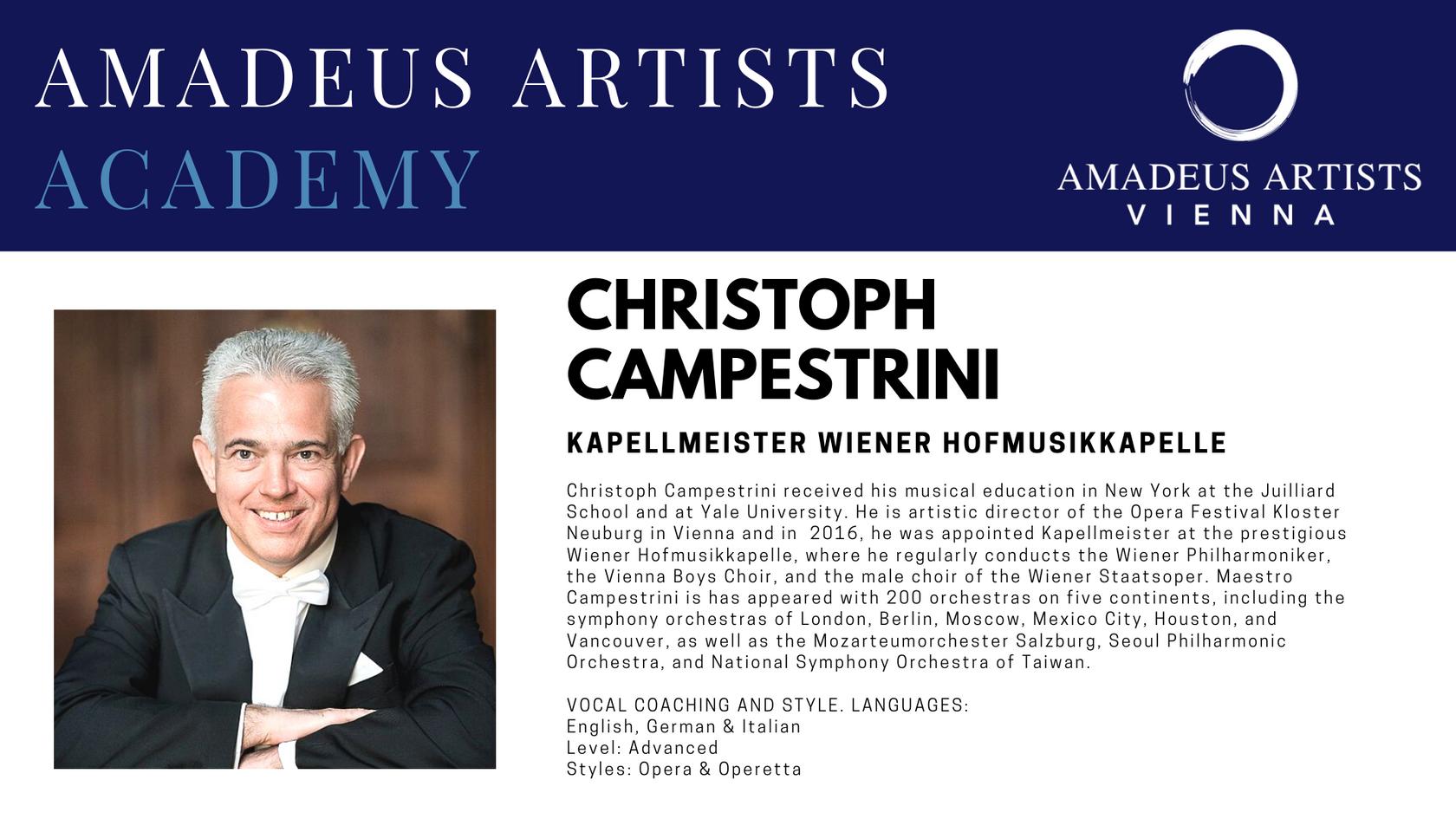 Christoph Campestrini- Amadeus Artists A