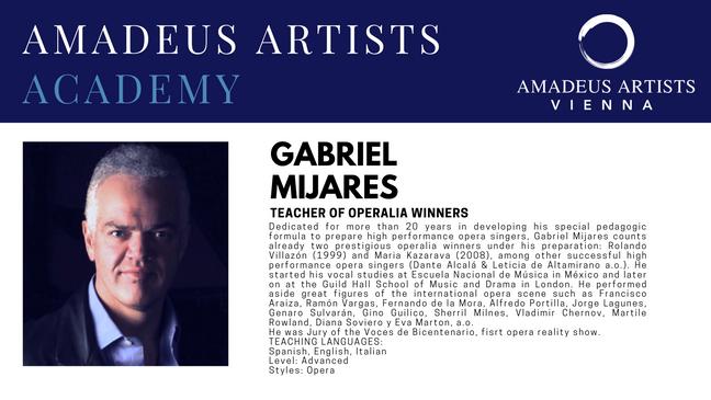 Gabriel Mijares - Amadeus Artists Academ