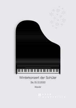 Winterkonzert der Schüler 12:2020 (vorne