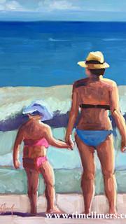 Em and B go to the Beach