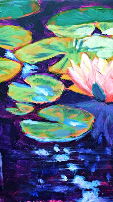 Water Lilies and Koi - Two