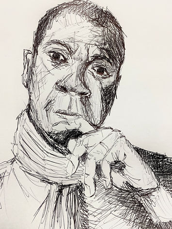 Clive Myrie - Sketch, Ball-point-pen
