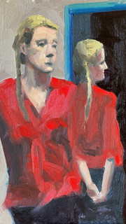 Diane - Lady in Red reflection
