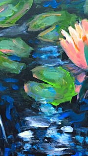 Water Lilies and Koi - One