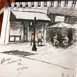 Downtown Hendersonville, NC sketch