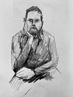 Self Portrait - Straight On Sketch