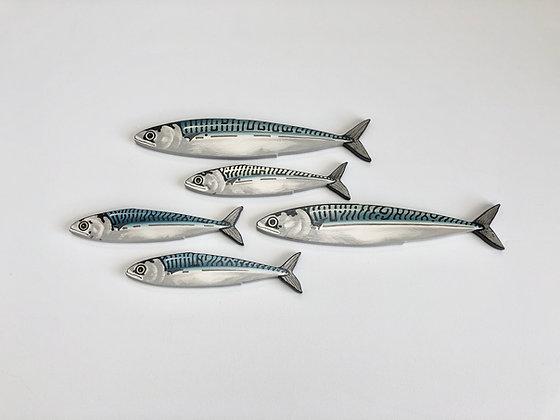 Mackerel Fish Wall Sculpture Artworks - 5 Fish
