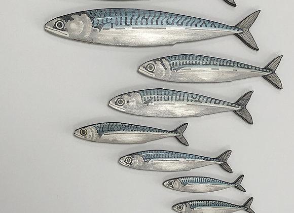 8 Mackerel Fish Shoal Sculptures