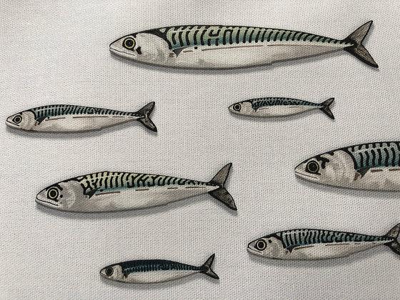 Mackerel Fish Tea Towel