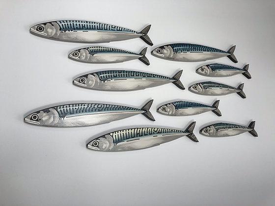 Mackerel Fish Wall Sculpture Artworks - 10 Fish