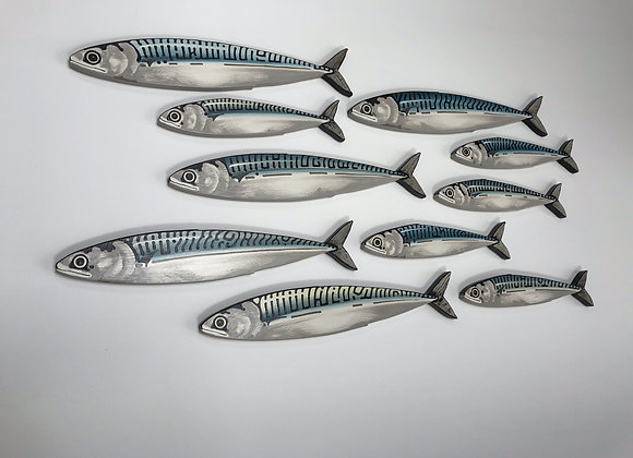 Mackerel Fish Wall Decor Sculpture - 10 Fish