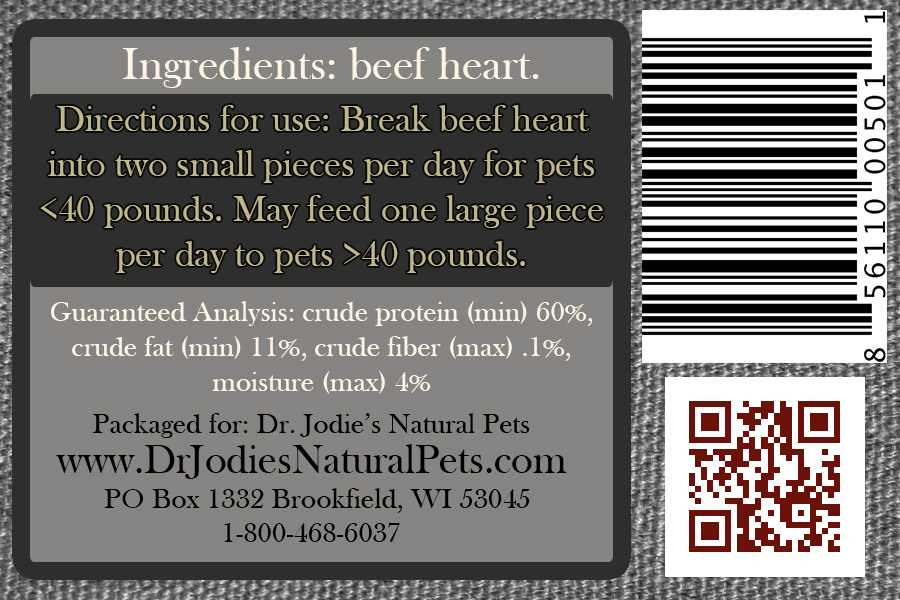 I ♥ Beef - Beef Heart Snack