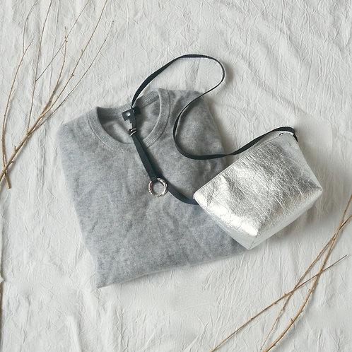 Mini bag / metallic silver