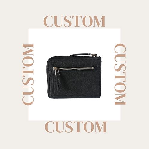 Custom zipper wallet