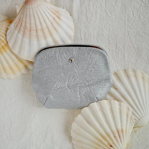 貝のがま口財布 /シルバー