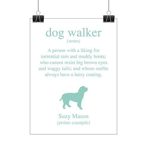 Personalised dog walker print