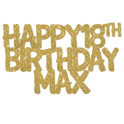 Personalised birthday cake topper