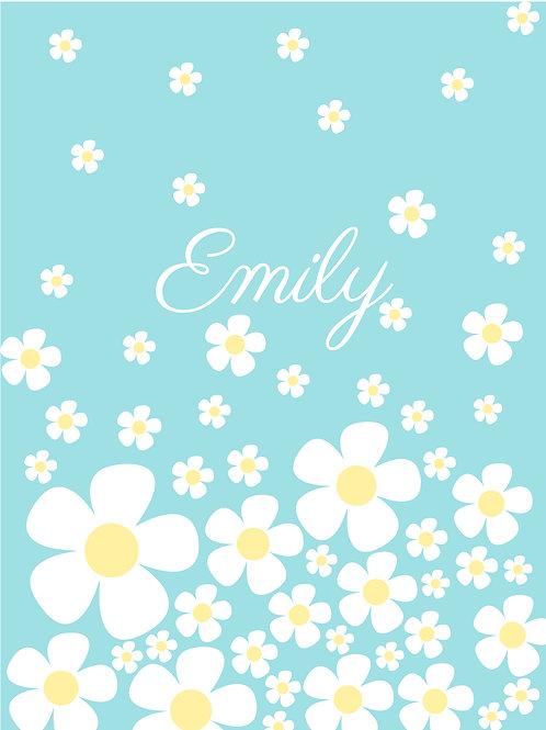 Personalised daisies print