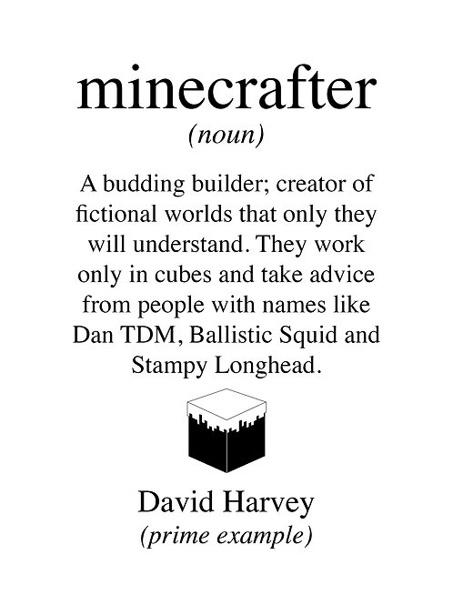 Personalised Minecrafter print