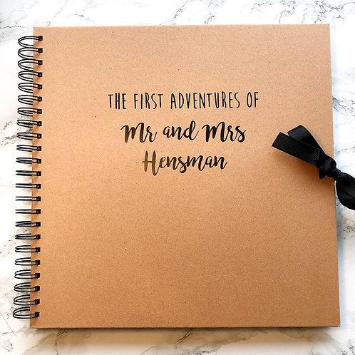 Personalised couple's adventures scrapbook