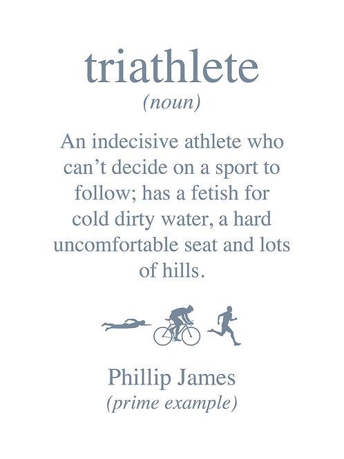 Personalised triathlete print
