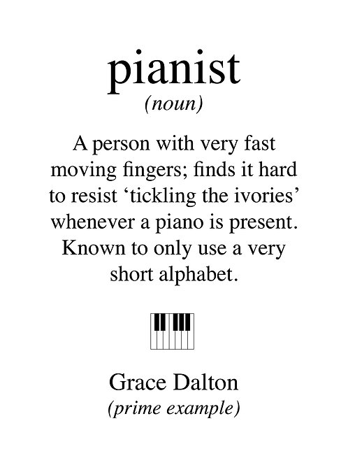 Personalised pianist print