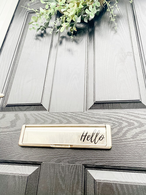 Personalised letterbox label