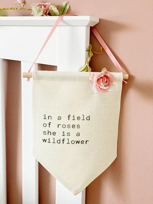 Personalised wildflower flag