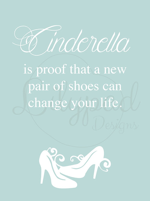 Personalised Cinderella print