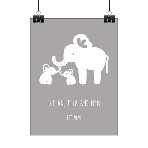 Personalised elephant family