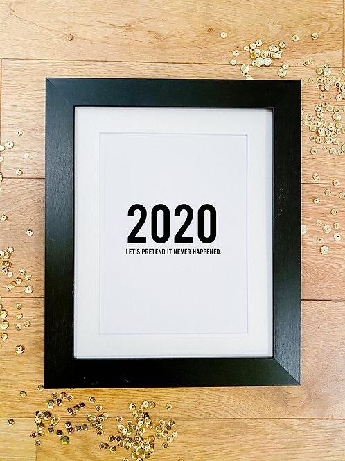 Personalised 2020 print