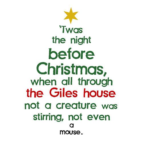 Personalised Christmas tree print