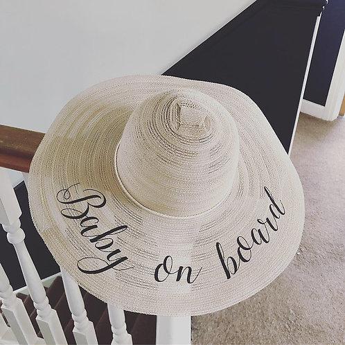 Personalised floppy beach hat
