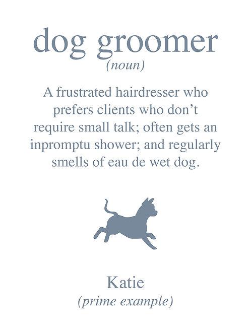 Personalised dog groomer print