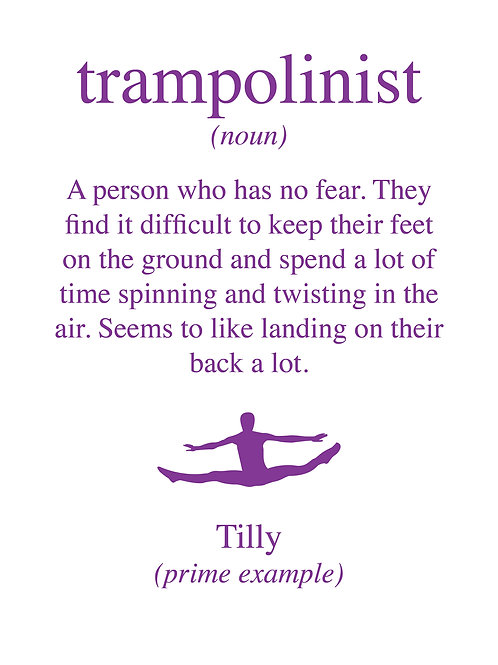 Personalised trampolinist print