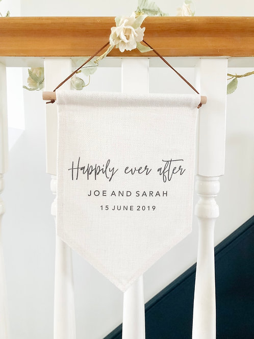 Personalised happily ever after flag