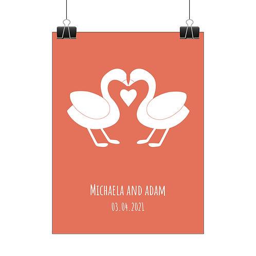 Personalised swan print