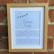 Lilypad Designs personalised prints for Christenings