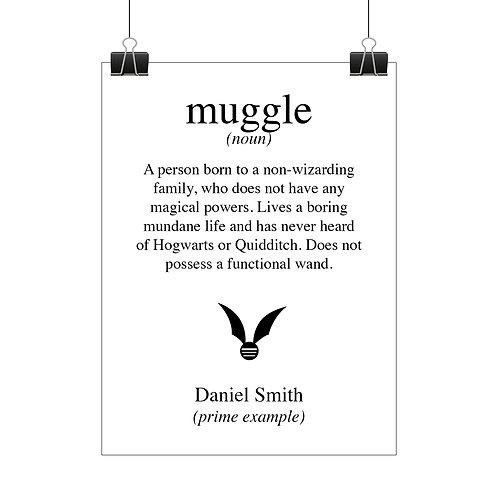 Personalised muggle print