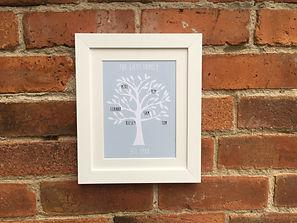 Lilypad Designs personalised family tree print