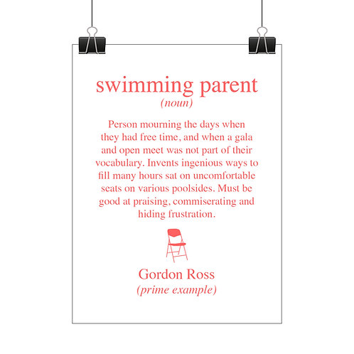 Personalised swimming parent print
