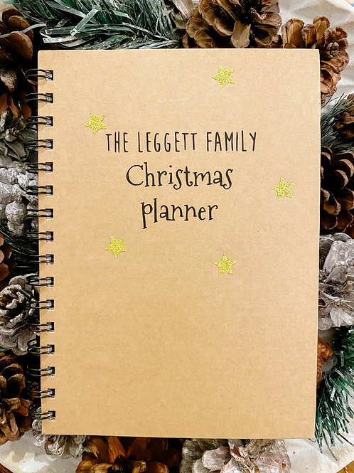 Personalised Christmas planner notebook